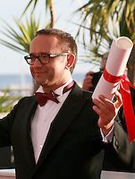 Andrey Zvyagintsev winner for  Best Screenplay for the film  Leviathan at the Palme d'Or winners photo call at the 67th Cannes Film Festival, Saturday 24th May 2014, Cannes, France.
