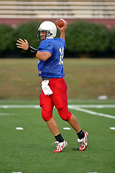 18 AUG 2007: Preston Earl cocks for a pass. The Illinois State Redbirds, ranked in the top 10 in pre-season polls, prepare for the beginning of the season during the annual Red/White inter-squad scrimmage on the newly installed turf at Hancock stadium in Normal Illinois.