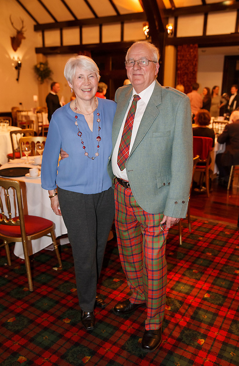 Burns Supper event in at the Brig o'Doon Hotel in Alloway.  L to R :  Moira McCallum and Peter Redshaw.   Picture Robert Perry  24th Jan 2016<br /> <br /> Must credit photo to Robert Perry<br /> FEE PAYABLE FOR REPRO USE<br /> FEE PAYABLE FOR ALL INTERNET USE<br /> www.robertperry.co.uk<br /> NB -This image is not to be distributed without the prior consent of the copyright holder.<br /> in using this image you agree to abide by terms and conditions as stated in this caption.<br /> All monies payable to Robert Perry<br /> <br /> (PLEASE DO NOT REMOVE THIS CAPTION)<br /> This image is intended for Editorial use (e.g. news). Any commercial or promotional use requires additional clearance. <br /> Copyright 2014 All rights protected.<br /> first use only<br /> contact details<br /> Robert Perry     <br /> 07702 631 477<br /> robertperryphotos@gmail.com<br /> no internet usage without prior consent.         <br /> Robert Perry reserves the right to pursue unauthorised use of this image . If you violate my intellectual property you may be liable for  damages, loss of income, and profits you derive from the use of this image.
