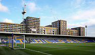 A general view from inside Plough Lane prior to the EFL Sky Bet League 1 match between AFC Wimbledon and Lincoln City at Plough Lane, London, United Kingdom on 2 January 2021.