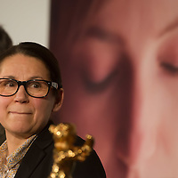 """Movie director Ildiko Enyedi of Hungary talks about her new Golden Bear winning movie """"On Body and Soul"""" during a press conference in Budapest, Hungary on February 21, 2017. ATTILA VOLGYI"""