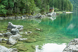 Cottage at lakeshore, Eibsee, Bavaria, Germany
