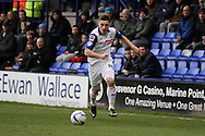 Tranmere Rovers' Jake Cassidy in action. Skybet football league 1match, Tranmere Rovers v Oldham Athletic at Prenton Park in Birkenhead, England on Saturday 1st March 2014.<br /> pic by Chris Stading, Andrew Orchard sports photography.