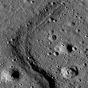 The Apollo Basin, a large double-ringed impact crater in the southern hemisphere of the far side.
