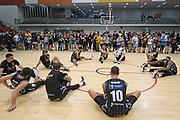 Taylor Hawks players cool down following the Sal's NBL Basketball match, Taylor Hawks v EnviroNZ Bulls, Pettigrew Green Arena, Napier, Saturday, June 26, 2021. Copyright photo: Kerry Marshall / www.photosport.nz