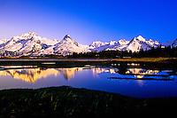 Mountains surrounding Valdez, Alaska USA