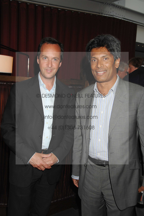 Left to right, owners of the Conran Restaurant group DAVID LOEWI and DES GUNEWARDENA at a party to celebrate the publication of Nain Attallah's book'Fulfilment & Betrayal' held at The Bluebird, King's Road, London on 1st May 2007.<br /><br />NON EXCLUSIVE - WORLD RIGHTS