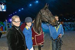 Melchior Judy Ann (BEL) - Grand Dame Z<br /> Afscheid van Grand Dame Z<br /> CSI-W Mechelen 2008<br /> Photo © Dirk Caremans