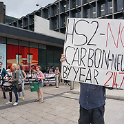 Activists to stage HS2 protests of high-speed railway line, Euston, London, UK
