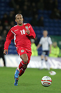 Robert Earnshaw of Wales. Wales v Scotland, friendly international football match at the Cardiff City stadium, Cardiff, Wales, UK on Sat 14th Nov 2009.  pic by Andrew Orchard, Andrew Orchard sports photography
