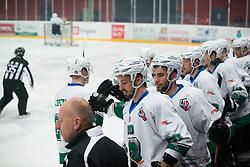 HK SZ Olimpija during Alps League Ice Hockey match between HK SZ Olimpija and HDD SIJ Jesenice, on February 12, 2019 in Ice Arena Podmezakla, Jesenice, Slovenia. Photo by Peter Podobnik / Sportida