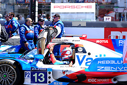 June 17, 2017 - Le Mans, Sarthe, France - Vaillante Rebellion Oreca 07-Gibson rider NELSON PIQUET (BRA) on the grid before the race of the 24 hours of Le Mans on the Le Mans Circuit - France (Credit Image: © Pierre Stevenin via ZUMA Wire)