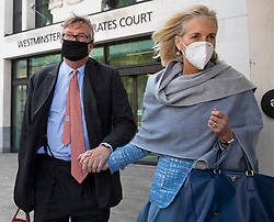 © Licensed to London News Pictures. 28/09/2020. London, UK. Hedge fund manager Crispin Odey (centre)departs Westminster Magistrates Court after denying indecently assaulting a woman more than 20 years ago. The Tory donor, 61, was charged on 14 May this year over an alleged incident at an address in Chelsea, west London, in 1998. The Metropolitan police said Odey is alleged to have indecently assaulted ìa woman over 16 years of ageî on or around 13 July 1998 at an address in Swan Walk, Chelsea. The influential financier and founder of Odey Asset Management was a high-profile backer of the Brexit campaign, who donated more than £870,000 to pro-leave groups.  Photo credit: George Cracknell Wright/LNP