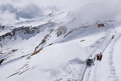 THEMENBILD - Wallack Rotations Schneefräse und andere Räumfahrzeuge bei der Schneeräumung der Strasse. Die Grossglockner Hochalpenstrasse verbindet die beiden Bundeslaender Salzburg und Kaernten und ist als Erlebnisstrasse vorrangig von touristischer Bedeutung, aufgenommen am 29. April 2021 auf der Grossglockner Hochalpenstrasse, Österreich // Wallack rotary snow blower and other snow removal vehicles clearing the road from the Snow. The Grossglockner High Alpine Road connects the two provinces of Salzburg and Carinthia and is as an adventure road priority of tourist interest at the Grossglockner High Alpine Road, Austria on 2021/04/29. EXPA Pictures © 2021, PhotoCredit: EXPA/ JFK