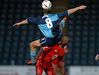 Picture: Henry Browne.Digitalsport<br /> Date: 24/08/2004.<br /> Wycombe Wanderers v Bristol City Carling Cup First Round.<br /> <br /> Leroy Lita of City fouls Wycombe's Joe Burnell.