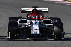 February 18, 2019 - Barcelona, Spain - The Finnish driver, Kimi Rikknen of Alfa Romeo Racing, testing the new car for F1 2019 Championship, during the first day of Formula One Test at Catalonia Circuit, on February 18, 2019 in Barcelona, Spain. (Credit Image: © Joan Cros/NurPhoto via ZUMA Press)