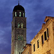 Bell tower in Dubrovnik, Croatia