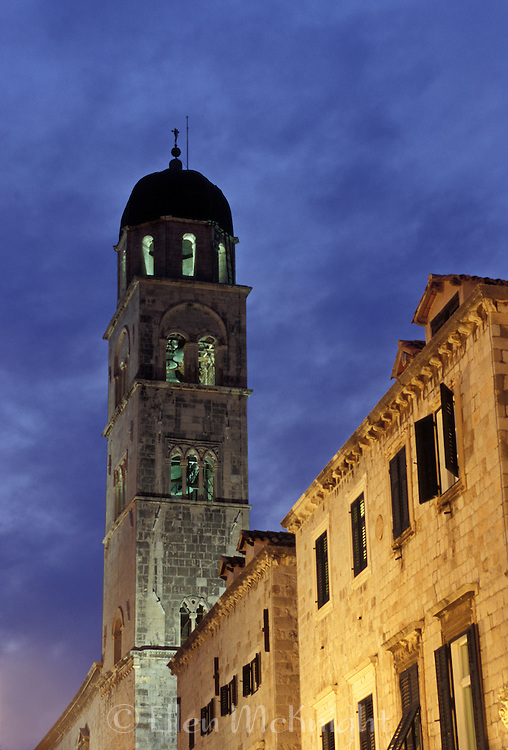 Bell tower in Dubrovnik, Croatia