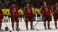 Enttaeuschte Tschechen (Ondrej Smach, Petr Pohl, Tomas Kudelka und Zdenek Bahensky), stolze Schweden. © Thomas Oswald