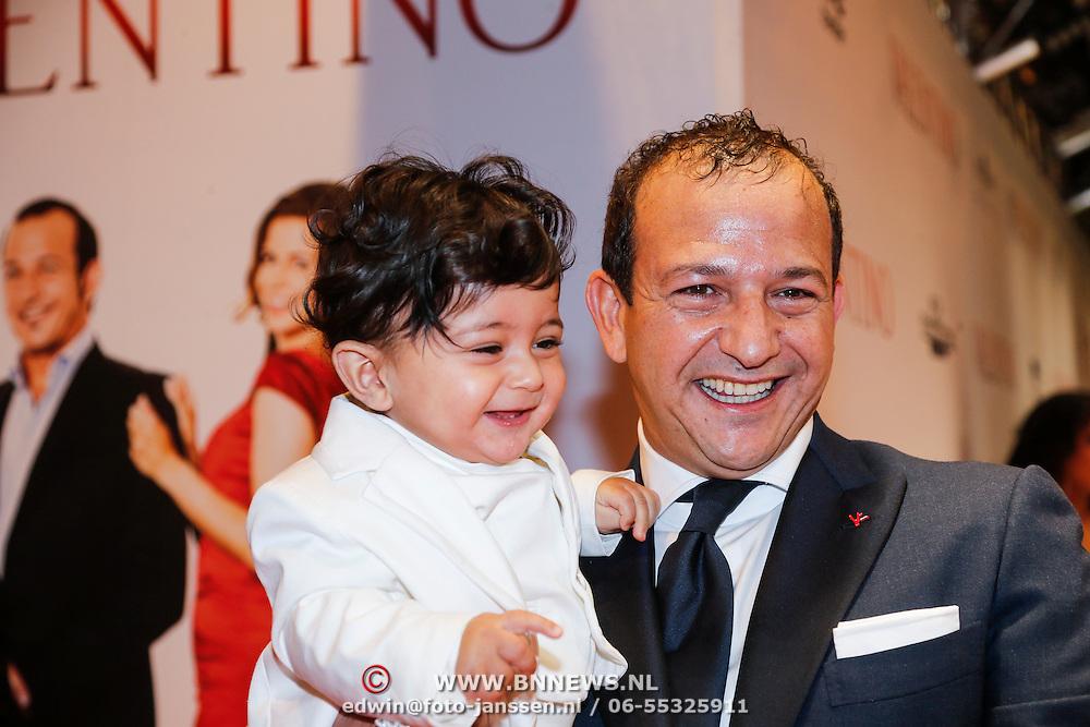 NLD/Amsterdam/20130318 - Premiere Valentino, Najib Amhali en kindje Noah