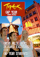 Cover of a Topdeck Travel brochure photographed whilst on assignment for them in Paris.