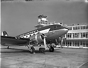 28/03/1956.03/28/1956.28 March 1956.Aircraft landing and on tarmac at Dublin Airport.
