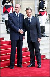 September 21, 2016 - Paris, palais de l'elys√©e, France - Passation de pouvoir entre les pr√©sidents Jacques Chirac et Nicolas Sarkozy √† l'Elys√©e  (Credit Image: © Visual via ZUMA Press)