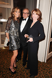 Left to right, TARA PALMER-TOMKINSON, GERALD SCARFE and JANE ASHER at a gala dinner in celebration of 80 years since the first Foyles Literary Luncheon, held in The Ball Room, Grosvenor House Hotel, Park Lane, London on 21st October 2010.