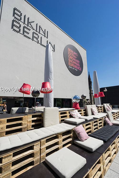 Rooftop bar area at Bikini Berlin new shopping centre in Berlin Germany