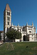 Santa Maria la Antigua church on Plaza Portugalete Valladolid spain castile and leon