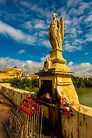 Roman Bridge (Puente Romano) and Rio Guadalquivir (river), Cordoba, Cordoba Province, Andalusia, Spain.