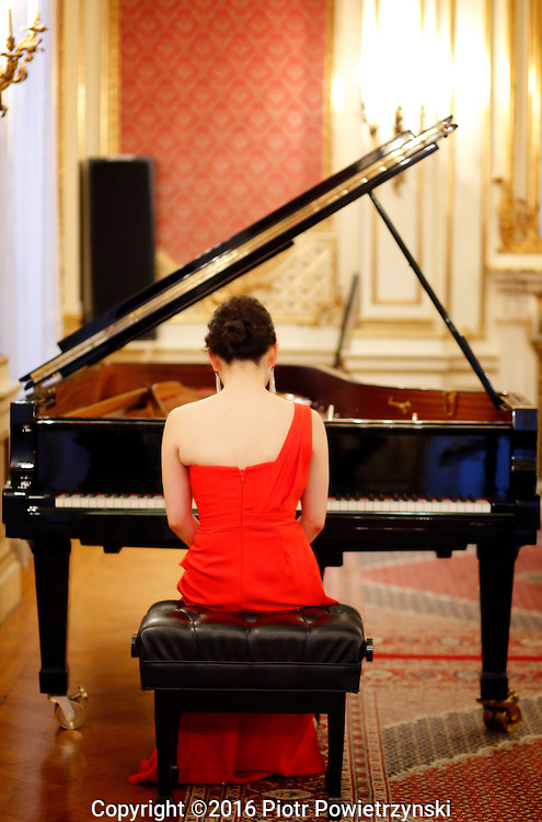 Yoonie Han Piano Recital<br /> <br /> Wednesday, 25th of May 2016, 7.00 pm<br /> <br /> Consulate General<br /> of the Republic of Poland in New York<br /> invites you to celebrate<br /> the Polish presidency to the Council<br /> of the Baltic Sea States in 2015-2016<br /> <br /> Program<br /> <br /> Poland<br /> <br /> C.W. Gluck (1714-1787) / Ignaz Friedman (1912-2006)<br /> Melodie from Orfeo ed Euridice<br /> <br /> Frederic Chopin (1810-1849)<br /> Mazurka Op. 63, No. 3 in C sharp minor<br /> <br /> Lithuania<br /> <br /> Isaac Albeniz (1860-1909) / Leopold Godowsky (1870-1938)<br /> Tango<br /> <br /> Carmille Saint-Saens (1835-1921) / Leopold Godowsky<br /> Swan from Carnival of Animals<br /> <br /> Finland<br /> <br /> Jean Sibelius (1865-1957)<br /> Trees from five piano pieces, Op. 75 (1914)<br /> När rönnen blommar (When the Rowan Blossoms)<br /> Den ensamma furan (The Solitary Pine)<br /> Granen (The Spruce)<br /> <br /> Estonia<br /> <br /> Arvo Part (b. 1935)<br /> Fur Anna Maria (2006)<br /> <br /> Germany<br /> <br /> J.S. Bach (1685-1750) / Ferruccio Busoni (1866-1924)<br /> Chaconne from Partita No. 2 for Solo Violin
