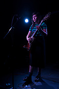 Solo performance by singer Lucy Dacus at The Old Blue Last on September 6th 2016 in Shoreditch, London, England, United Kingdom. Lucy Dacus is known for her incredibly open indie songs and lyrics. (photo by Mike Kemp/In Pictures via Getty Images)