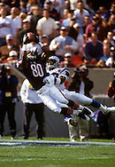 CHICAGO,IL-UNDATED:  NFL wide receiver Curtis Conway of the Chicago Bears makes a spectacular catch during a game at Soldier Field in Chicago Illinois.  Conway played for the Bears from 1993-1999.  (Photo by Ron Vesely)