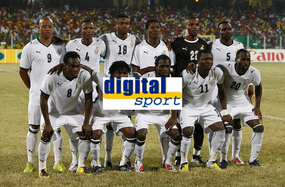 Photo: Steve Bond/Richard Lane Photography.<br />Ghana v Namibia. Africa Cup of Nations. 24/01/2008. ghana line up
