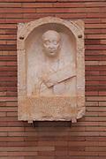 Family memorial, Museo Nacional de Arte Romano, national museum of Roman art, Merida, Extremadura, Spain
