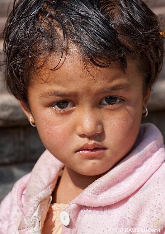 Portrait of a girl living in Kirtipur.