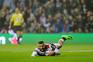 Jonny May scores first try during the European Rugby Challenge Cup match between Gloucester Rugby and Stade Francais at BT Murrayfield, Edinburgh, Scotland on 12 May 2017. Photo by Kevin Murray.