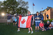 Avid Canadian golf fans are on hand to cheer on their own Corey Conners (CAN) for winning the Valero Texas Open, at the TPC San Antonio Oaks Course, San Antonio, Texas, USA. 4/7/2019.<br /> Picture: Golffile | Ken Murray<br /> <br /> <br /> All photo usage must carry mandatory copyright credit (© Golffile | Ken Murray)
