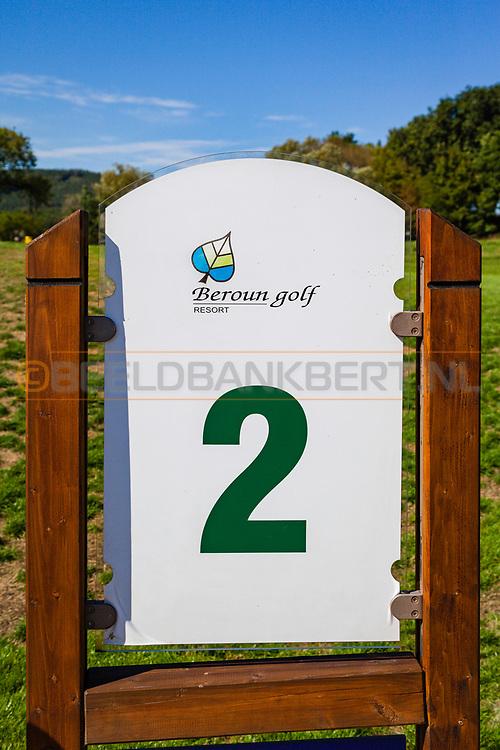 17-09-2015: Beroun Golf Resort in Beroun, Tsjechië.<br /> Foto: Holebord hole 2