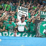 Panathinaikos's Supporters fans during their Euroleague Final Four semifinal Game 1 basketball match CSKA Moscow's between Panathinaikos at the Sinan Erdem Arena in Istanbul at Turkey on Friday, May, 11, 2012. Photo by TURKPIX