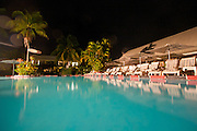 The pool at Aggie Grey's Hotel, in Apia, Western Samoa.