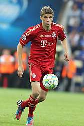 19.05.2012, Allianz Arena, Muenchen, GER, UEFA CL, Finale, FC Bayern Muenchen (GER) vs FC Chelsea (ENG), im Bild Thomas MUELLER (Bayern Muenchen) // during the Final Match of the UEFA Championsleague between FC Bayern Munich (GER) vs Chelsea FC (ENG) at the Allianz Arena, Munich, Germany on 2012/05/19. EXPA Pictures © 2012, PhotoCredit: EXPA/ Eibner/ Eckhard Eibner..***** ATTENTION - OUT OF GER *****