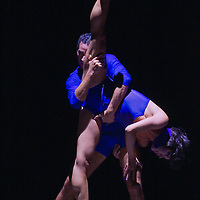 Levente Bajari and Krisztina Pazar, members of the Hungarian National Ballet Company perform their dance titled Way of words during the World Stars Ballet Gala held in the Budapest Opera House in Budapest, Hungary, Saturday, 25. September 2010. ATTILA VOLGYI