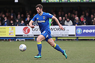 AFC Wimbledon defender Jon Meades (3) dribbling during the EFL Sky Bet League 1 match between AFC Wimbledon and Oxford United at the Cherry Red Records Stadium, Kingston, England on 10 March 2018. Picture by Matthew Redman.