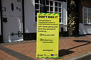 A Wokingham Borough Council sign warns local residents about the Covid-19 Delta variant amid rising local concern regarding its spread on 8th June 2021 in Wokingham, United Kingdom. Surge testing has been introduced in some local postcodes after a small number of cases of the Delta variant first identified in India were confirmed in the Wokingham area.