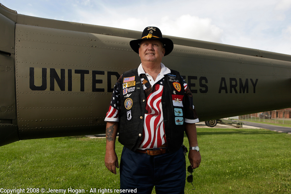 John Creech, B Troop, standing for a portrait after the the 9th Cavalry Monument rededication ceremony. Gathering of Warriors reunion attended by Vietnam War Veterans of the 1st Squadron, 9th Cavalry, 1st Cavalry Divison.
