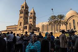 December 11, 2016 - Cairo, Egypt - People gather outside the Coptic Cathedral in Cairo, Egypt after an explosion killed over 20 people on December 11, 2016 (Credit Image: © Sima Diab via ZUMA Wire)