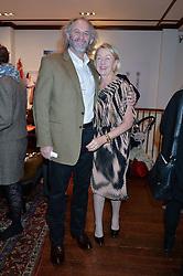 PATRICK & CATJA MAVROS at a pre christmas party & shopping evening at Patrick Mavros, 104-106 Fulham Road, London on 26th November 2014.