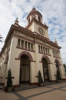 """Santa Cruz Church is known to Thais as Wat Kudichin -  Santa Cruz Church sits along the banks of the Chao Phraya River. After the fall of Ayutthaya King Taksin ordered the Chinese and Portuguese communities of Ayutthaya to move to Thonburi, where the new capital was being founded.  The Portuguese had given military support to King Taksin so in recognition of that, King Taksin gave the Portuguese a plot of land for the building of a catholic church. There have been three different churches built at this site.  In 1916 the current Santa Cruz Church was built in a kind of Italian style architecture.  Santa Cruz Church is the birthplace of a famous Thai cupcake, the """"Khanom Farang Kudichin""""."""